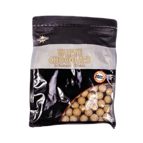 Бойлы тонущие DYNAMITE BAITS White Chocolate & Coconut Cream 20 мм. 1 кг.