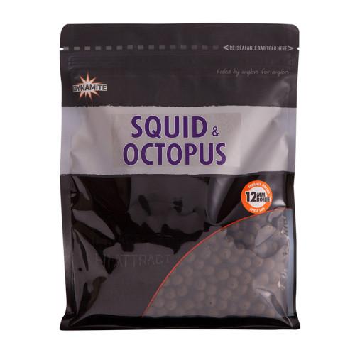 Бойлы тонущие DYNAMITE BAITS Squid & Octopus 12 мм. 1 кг.