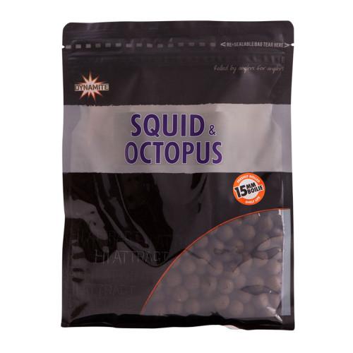 Бойлы тонущие DYNAMITE BAITS Squid & Octopus 15 мм. 1 кг.