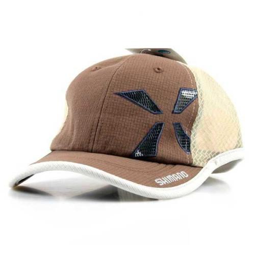 Кепка Shimano XEF WIND-FIT Half Mesh Cap Кофейно коричневая Regular Size