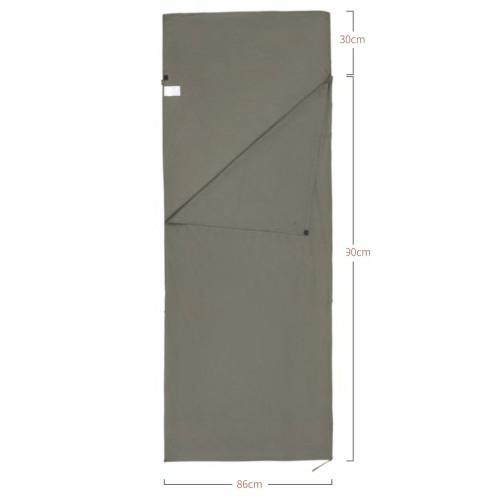 5206 LINER COTTON вкладыш в спальник-одеяло (зеленый)