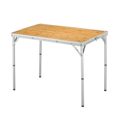 3935 Bamboo table S стол скл. Бамбук, алюм (45Х60Х27/59 см)
