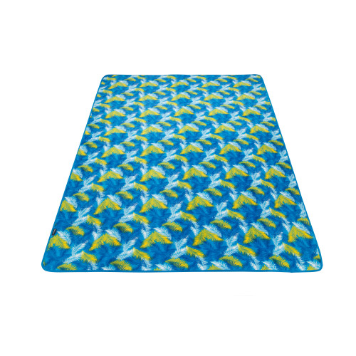 4707 PicnicBlanket Palm Blue плед 200x150