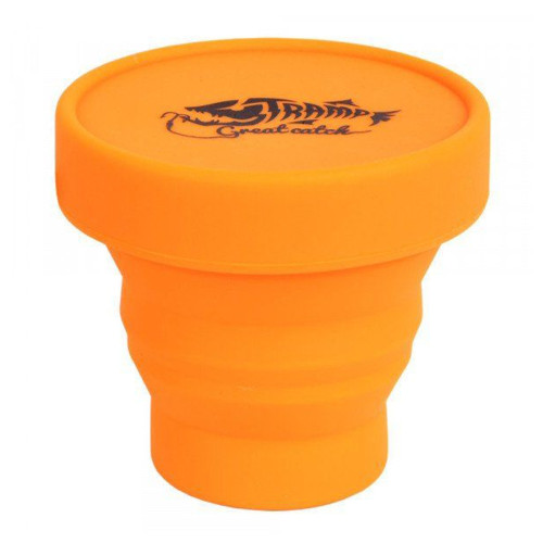 Tramp стакан силиконовый складной с крышкой 180 мл (оранжевый)
