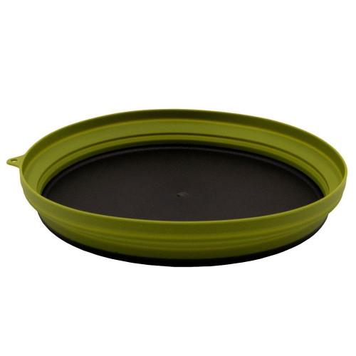 Tramp тарелка силиконовая с пластиковым дном 1070 мл (оливковый)