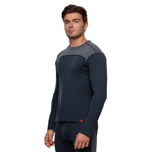 Bask Co Блуза мужская Slim Fit Pon U Sleeve (серый/темно-серый) / M