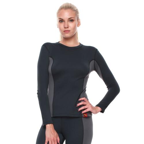 Bask Co Блуза Slim Fit Pon Lady Sleeve (серый/темно-серый) / L